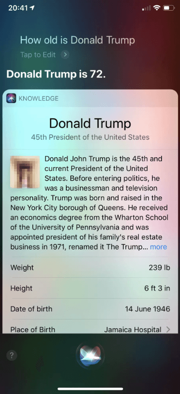 Siri showed a penis picture when asked about Donald Trump: Reports